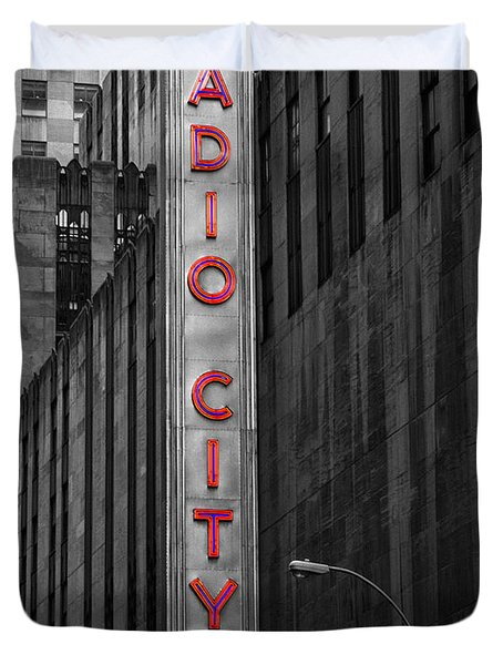 Duvet Cover featuring the photograph Radio City Music Hall by Gigi Ebert