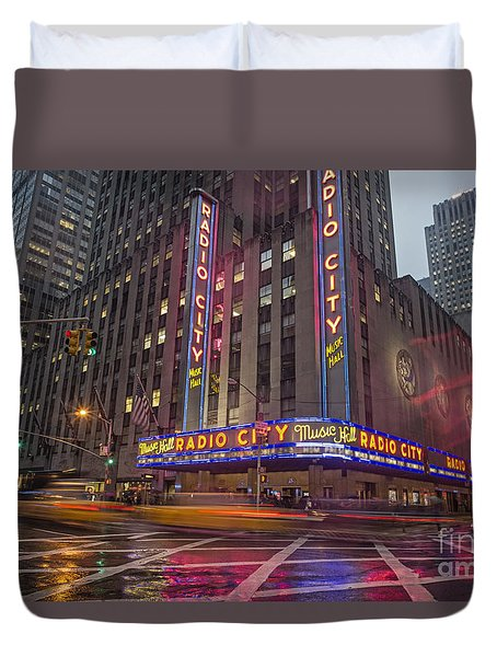 Duvet Cover featuring the photograph Radio City New York  by Juergen Held