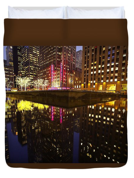 Radio City Reflection Duvet Cover