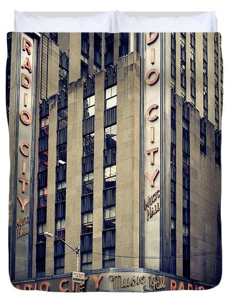 Radio City Duvet Cover