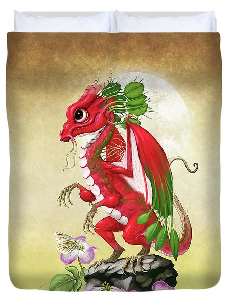Duvet Cover featuring the digital art Radish Dragon by Stanley Morrison