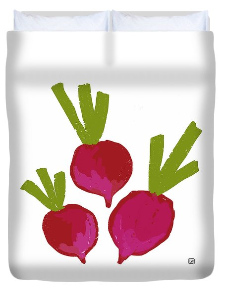 Radish Duvet Cover by Lisa Weedn