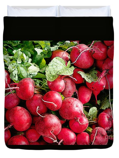 Radishes 1 Duvet Cover by David Blank