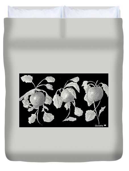 Radishes Duvet Cover