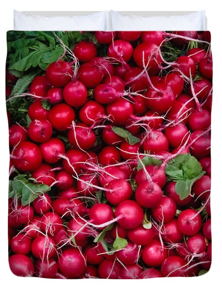 Radishes Duvet Cover by Thomas Marchessault