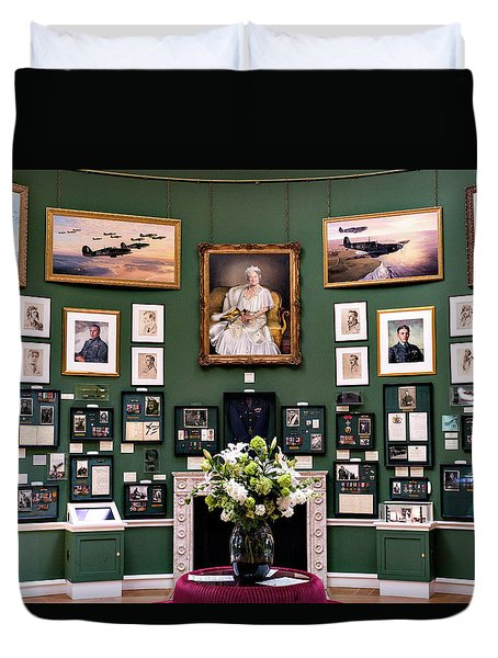 Duvet Cover featuring the photograph Raf Bentley Priory by Alan Toepfer