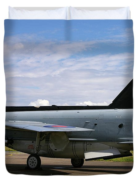 Raf English Electric Lightning F6 Duvet Cover by Tim Beach