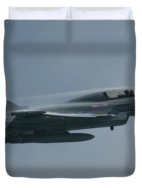 Duvet Cover featuring the photograph Raf Eurofighter Typhoon T1  by Tim Beach