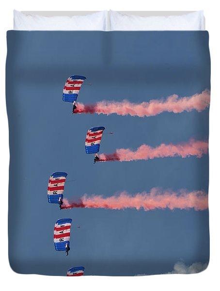 Raf Parachute Display Team Duvet Cover