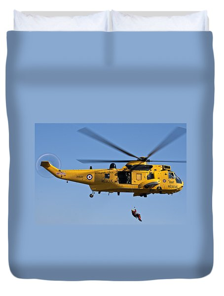 Raf Sea King Search And Rescue Helicopter 2 Duvet Cover