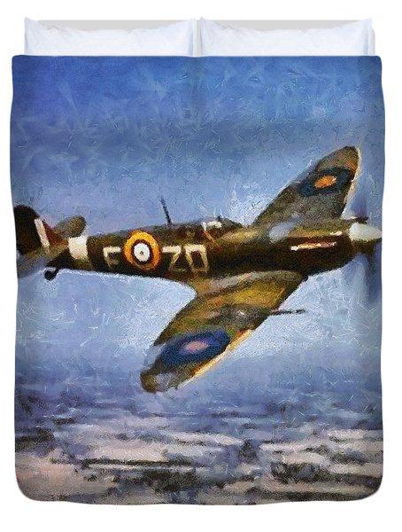 Raf Spitfire, Wwii Duvet Cover