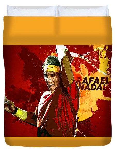 Rafael Nadal Duvet Cover by Semih Yurdabak