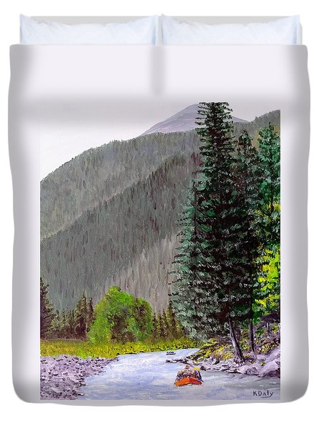 Rafting The Gallatin Duvet Cover