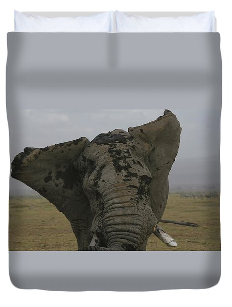 Duvet Cover featuring the photograph Raging Bull by Gary Hall