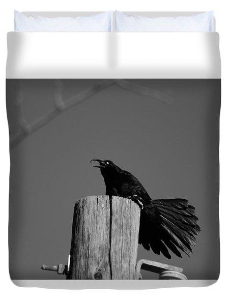 Raging Crow Duvet Cover