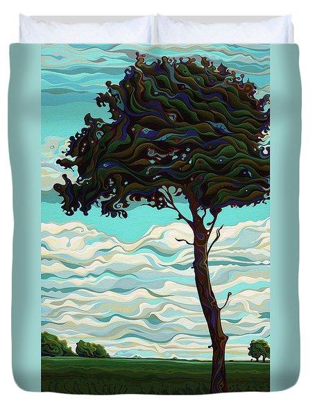 Raging Sky Po-e-tree Duvet Cover