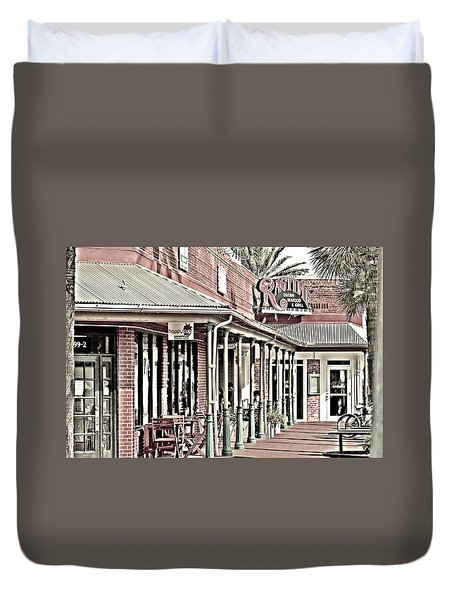 Ragtime At The Beach Duvet Cover