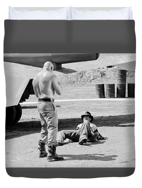Raiders Duvet Cover by Shelly Stallings