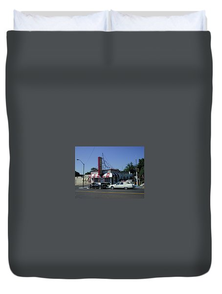 Duvet Cover featuring the photograph Raifords Disco Memphis A by Mark Czerniec