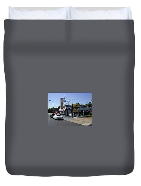 Duvet Cover featuring the photograph Raifords Disco Memphis B by Mark Czerniec