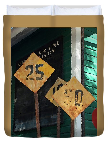 Rail Road Signs Duvet Cover