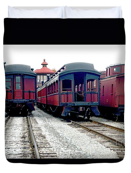 Duvet Cover featuring the photograph Rail Stock by Paul W Faust - Impressions of Light