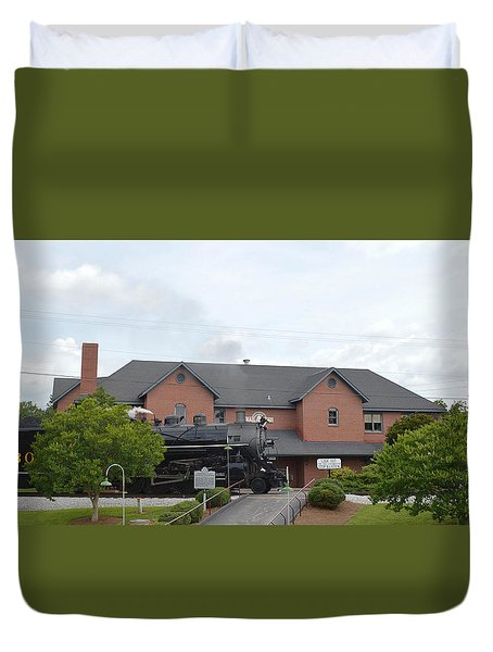 Railroad Depot Duvet Cover