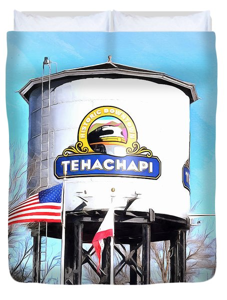 Duvet Cover featuring the photograph Railroad Park Tehachapi California Detail by Floyd Snyder