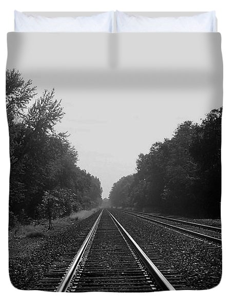 Railroad To Nowhere Duvet Cover