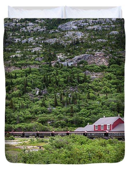 Railroad To The Yukon Duvet Cover