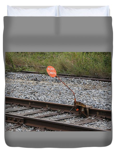 Railroad Work Limit Duvet Cover