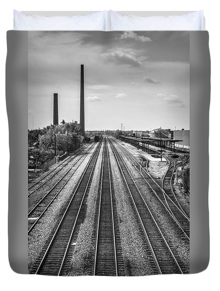 Rails Through Birmingham Duvet Cover