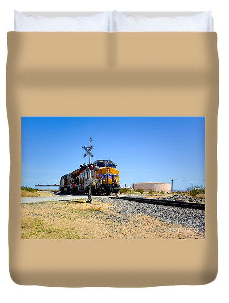 Railway Crossing Duvet Cover