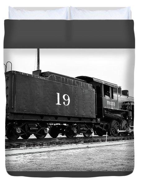 Railway Engine In Frisco Duvet Cover