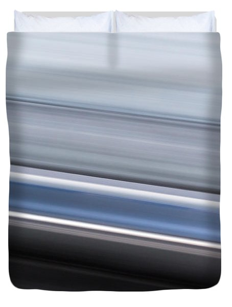 Duvet Cover featuring the photograph Railway Lines by John Williams