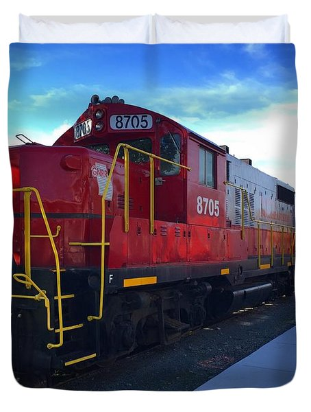 Blue Ridge Railway Duvet Cover