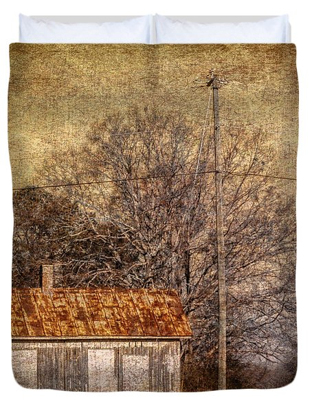 Railway Switching Station Duvet Cover by Phillip Burrow