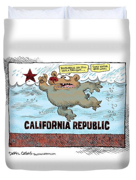 Rain And Drought In California Duvet Cover