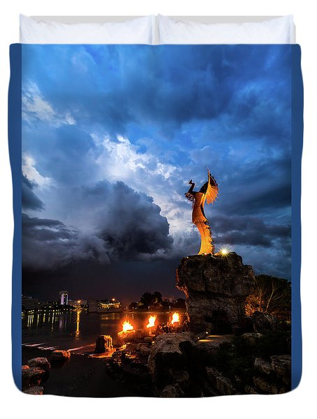 Rain And Fire Keeper Duvet Cover