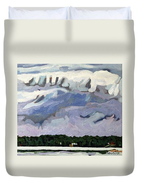 Rain Clouds Duvet Cover by Phil Chadwick