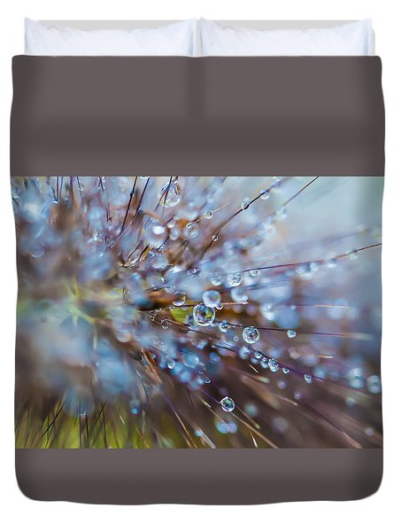 Rain Drops - 9751 Duvet Cover by G L Sarti