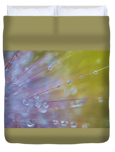 Rain Drops - 9753 Duvet Cover by G L Sarti