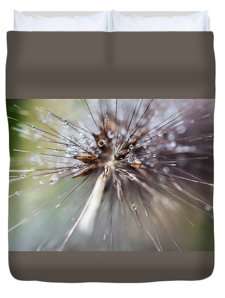 Rain Drops - 9756 Duvet Cover by G L Sarti