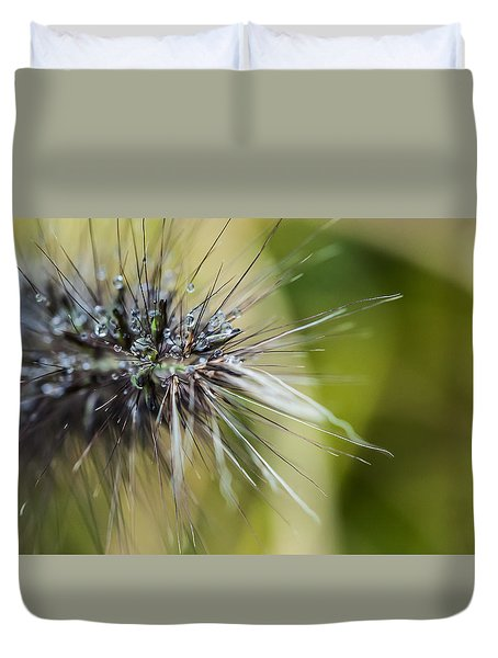 Rain Drops - 9760 Duvet Cover by G L Sarti
