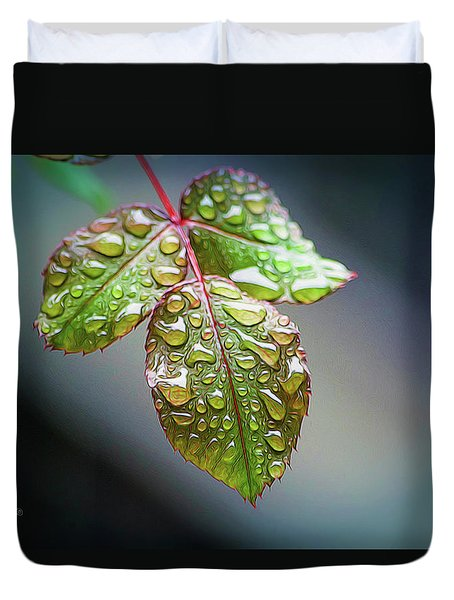 Rain Drops Duvet Cover