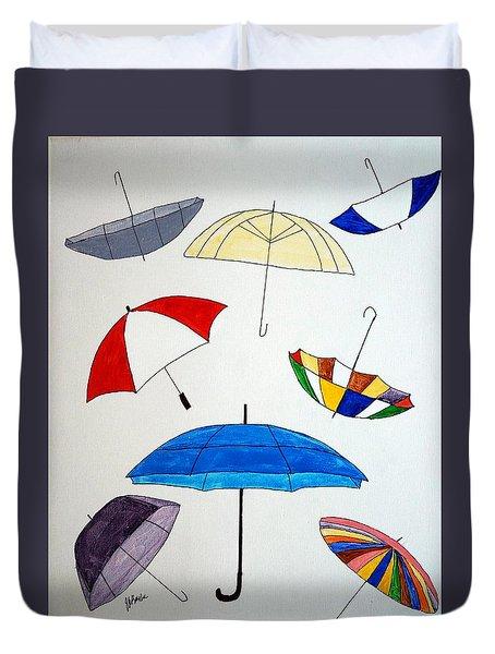 Rain Drops On My Head Duvet Cover