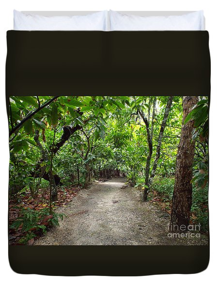 Rain Forest Road Duvet Cover
