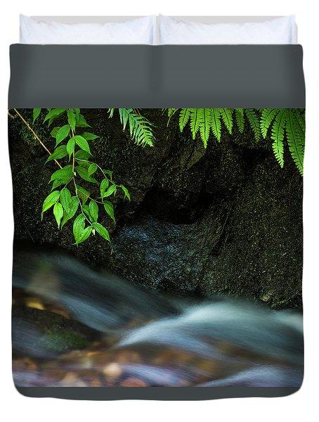 Rain Forest Stream Duvet Cover
