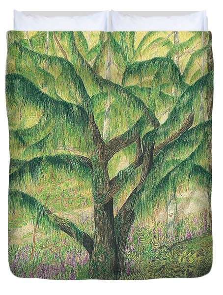 Rain Forest Washington State Duvet Cover by Vicki  Housel