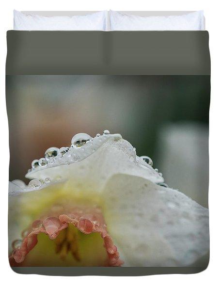 Rain In Daffodils Duvet Cover